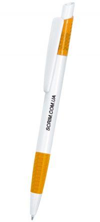 Ручки шариковые, цвет бело-оранжевый