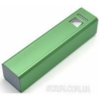 Повербанк зеленый 2600 мАч