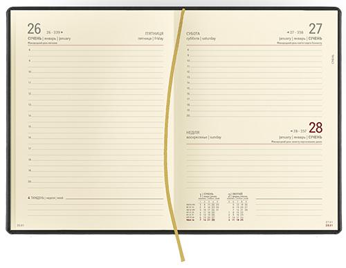Ежедневники а5 кремовый датированный внутренний блок