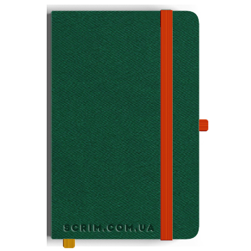 Блокноты A5 Twilly зеленые-оранжевые под заказ