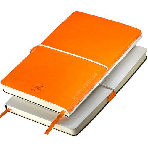 Блокноты итальянские оранжевые А5 Franky с логотипом