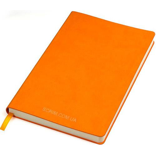 Блокноти помаранчеві Funky з логотипом