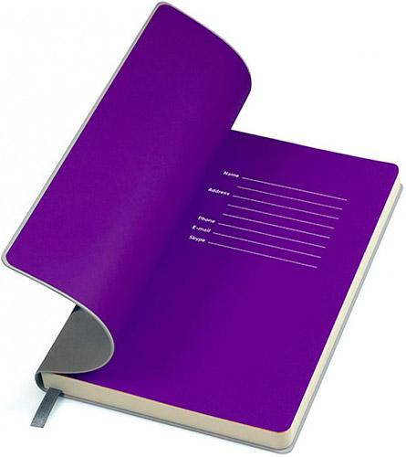 Блокноты серые с фиолетовым Funky
