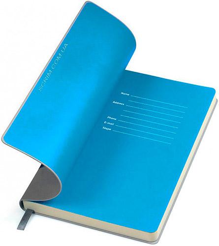Блокноты серые с голубым Funky