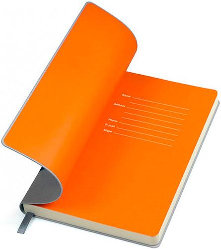 Блокноты серо-оранжевые Funky
