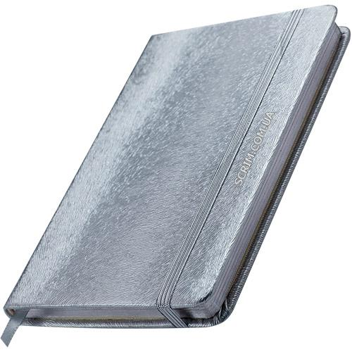 Блокноти сріблясті Inga з логотипом