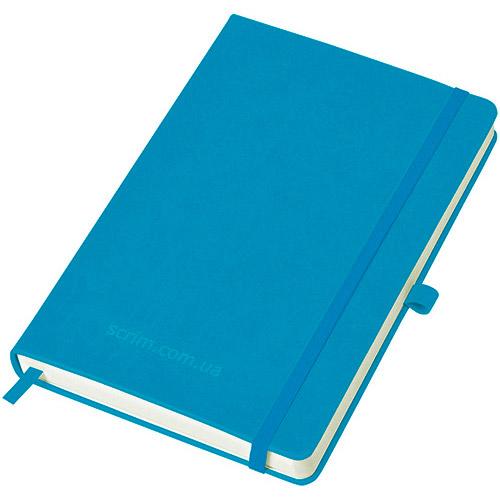 Блокноты голубые Justy с логотипом