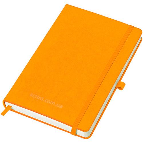Блокноти помаранчеві Justy з логотипом