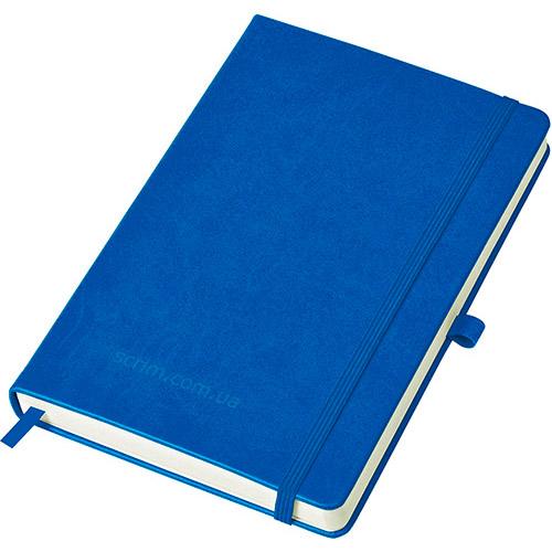 Блокноти сині Justy з логотипом