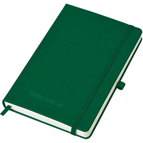 Блокноти зелені Justy з логотипом