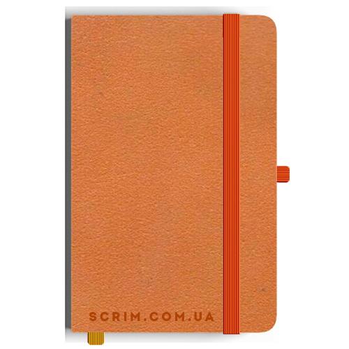 Блокноти A5 Velor помаранчеві під замовлення