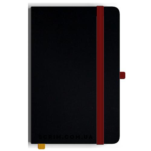 Блокноти A5 Soft-gum червоно-чорні під замовлення