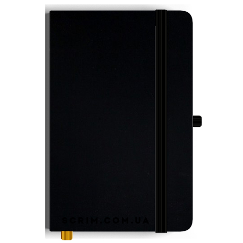 Блокноты A5 Soft-gum черные под заказ