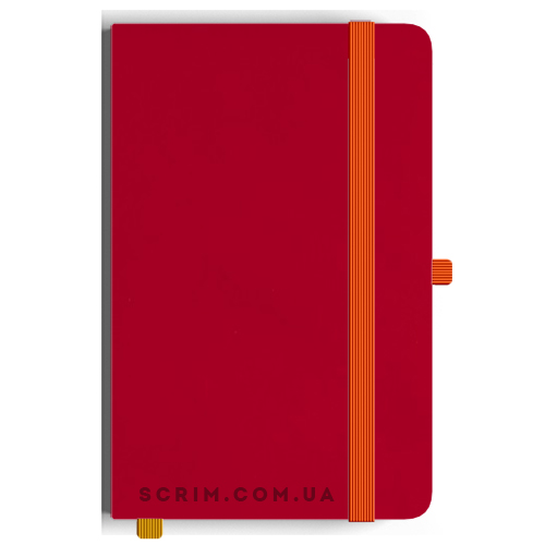 Блокноти A5 Soft-gum червоні під замовлення