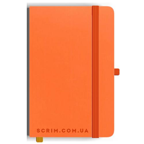 Блокноти A5 Soft-gum помаранчеві під замовлення