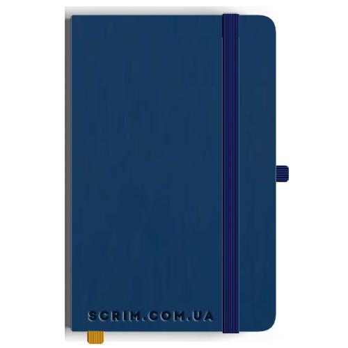 Блокноти A5 Soft-gum сині під замовлення