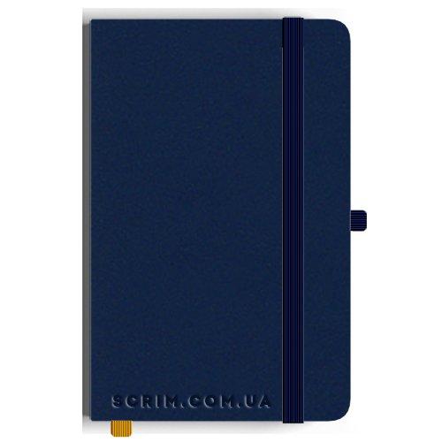 Блокноты A5 Soft-gum темно-синие под заказ