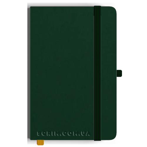 Блокноты A5 Soft-gum зеленые под заказ