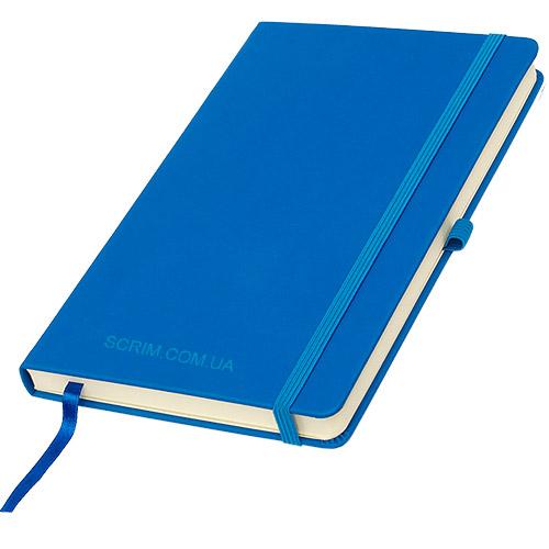 Блокноти сині Silky з логотипом