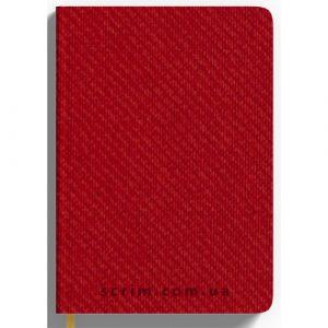 Ежедневник А5 недатированный Denim, цвет красный