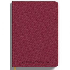 Ежедневник А5 недатированный Denim, цвет бордовый