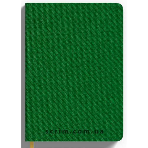 Ежедневник А5 недатированный Denim, цвет зеленый