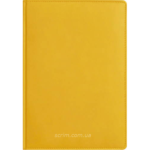 Ежедневники Fidelli желтые с логотипом
