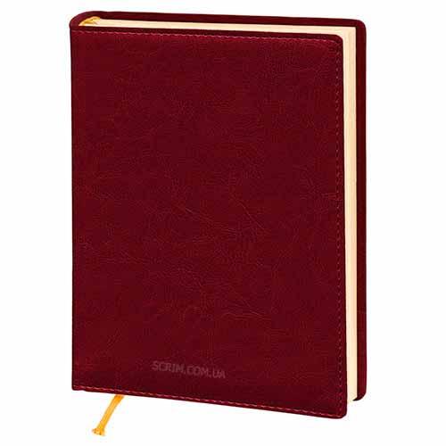 Ежедневники Elissa бордовые с логотипом