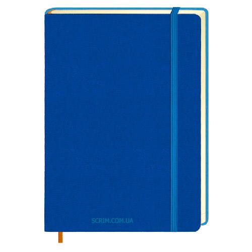 Ежедневники Erica синие с логотипом