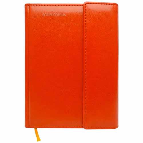 Ежедневники Estella оранжевые с магнитным клапаном