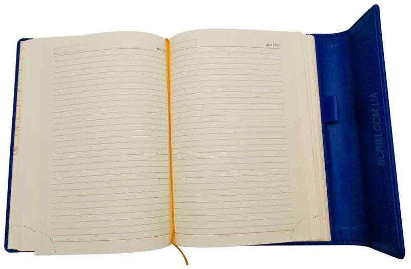 Ежедневники Estella синие с магнитным клапаном 2