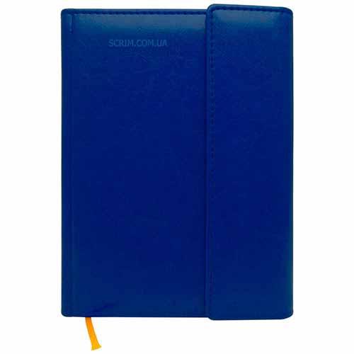 Ежедневники Estella синие с магнитным клапаном