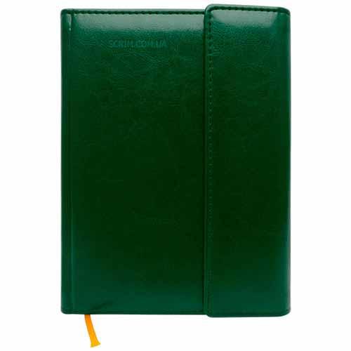 Ежедневники Estella зеленые с магнитным клапаном