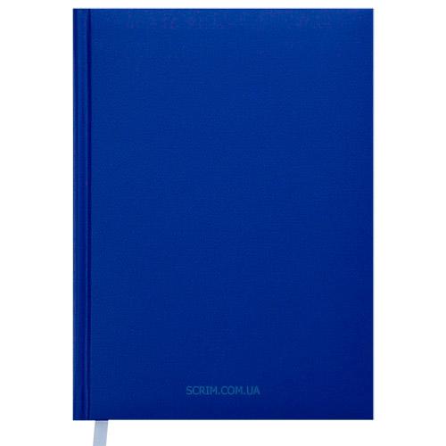 Щоденники недатовані Memphis сині з логотипом