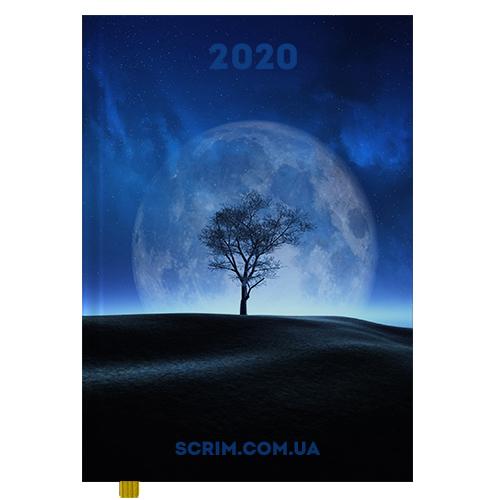 Щоденники фірмові з повнокольоровою обкладинкою Moon 2020