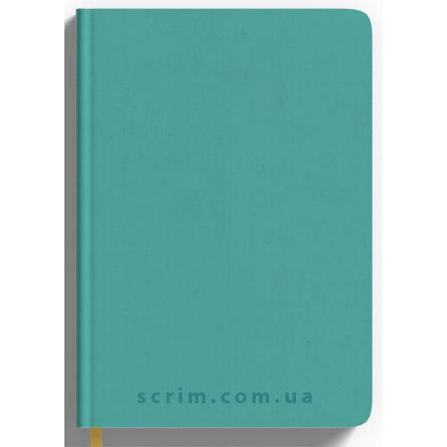 Ежедневники Soft-Touch бирюзовые с логотипом