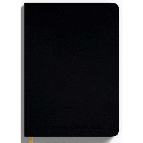 Щоденники Soft-Touch чорні з логотипом