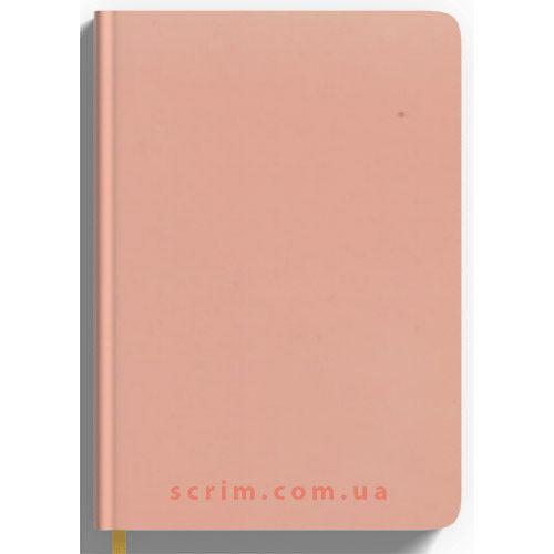 Ежедневники Soft-Touch пудровые с логотипом