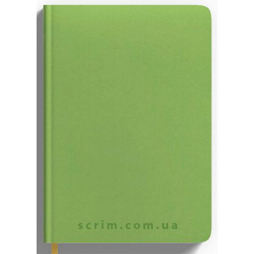 Ежедневники Soft-Touch салатовые с логотипом