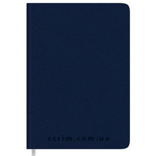 Щоденники Soft-Touch темно-сині з логотипом