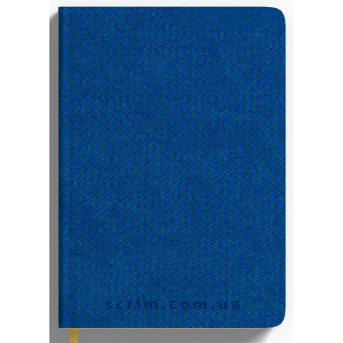 Ежедневники Twill синие с логотипом