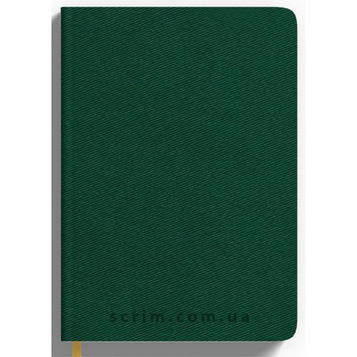 Ежедневники Twill зеленые с логотипом