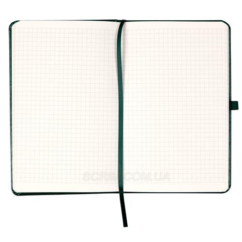 Записники Partner Люкс А5, колір зелений, в клітинку