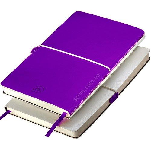 Блокноти італійські фіолетові А5 Franky
