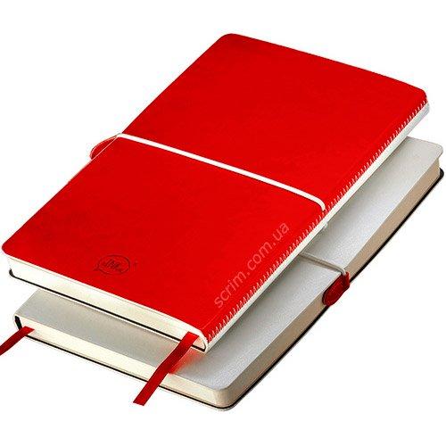 Блокноти італійські червоні А5 Franky з логотипом