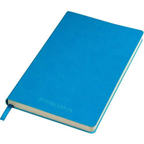 Блокноты голубые Funky с логотипом