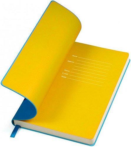 Блокноты голубые с желтым Funky