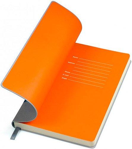 Блокноти сіро-помаранчеві Funky