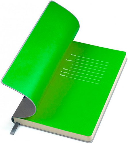 Блокноты серо-зеленые Funky