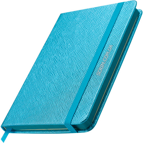 Блокноты голубые Inga с логотипом